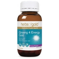 Herbs of Gold Ginseng 4 Energy Gold 60 tabs CLEARANCE