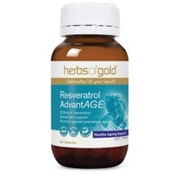 Herbs of Gold Resveratrol AdvantAGE 60 caps CLEARANCE