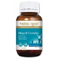 Herbs Of Gold Mega B Complex 60 caps CLEARANCE