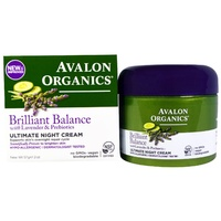 Avalon Organics Brilliant Balance Ultimate Night Cream with Lavender & Prebiotics 57g CLEARANCE