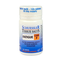 Schuessler Tissue Salts Comb F Fatigue 125 tabs