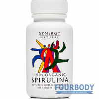 Synergy Natural Spirulina Organic 100 tabs