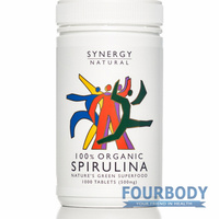 Synergy Natural Spirulina Organic 1000 tabs