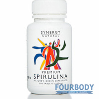Synergy Natural Spirulina Premium 100 tabs