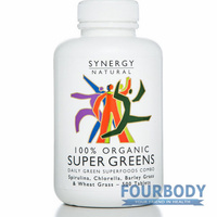 Synergy Natural Super Greens Organic 500 tabs