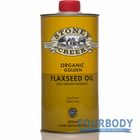 Stoney Creek Organic Flax Oil Golden 500ml