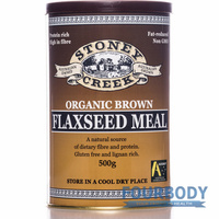 Stoney Creek Organic Flax Meal Brown 500g