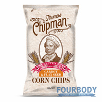Thomas Chipman Carrot & Flaxseed Corn Chips 200g