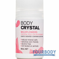 The Body Crystal Roll-On Wildflowers Deodorant 80ml