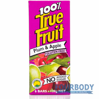 True Fruit Plum & Apple 6 bars x 20g