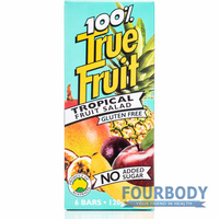 True Fruit Tropical Fruit Salad 6 bars x 20g