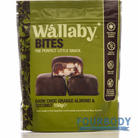 Wallaby Bites Dark Choc Orange Almond Coconut 150g