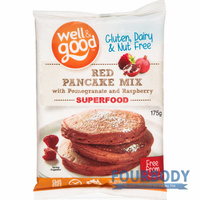 Well & Good Red Pancake Mix with Pomegranate 175g