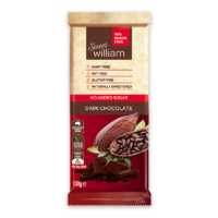 Sweet William Dark Chocolate No Added Sugar 100g