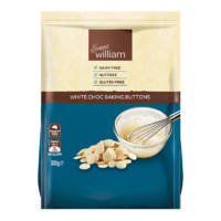 Sweet William White Choc Baking Buttons 300g