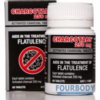 Charco Activated Charcoal Tabs 250mg 60 tabs