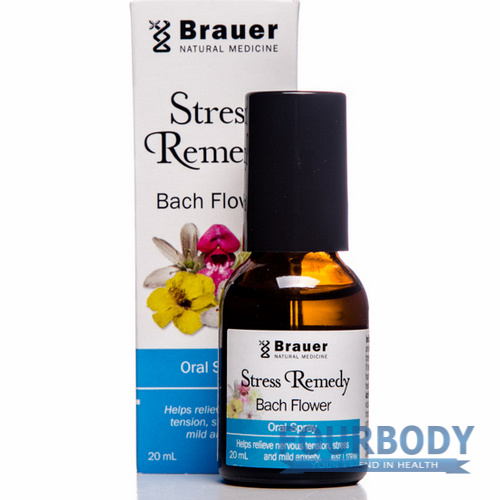 Brauer Stress Remedy Bach Flower Spray 20ml