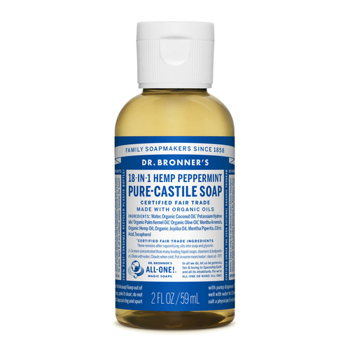 Dr Bronners Liquid Castile Soap Peppermint 59ml