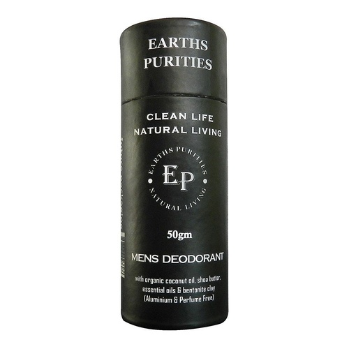 Earths Purities Mens Deodorant Paste 50g