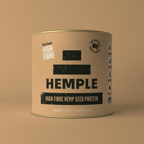Hemple High Fibre Hemp Seed Protein 500g