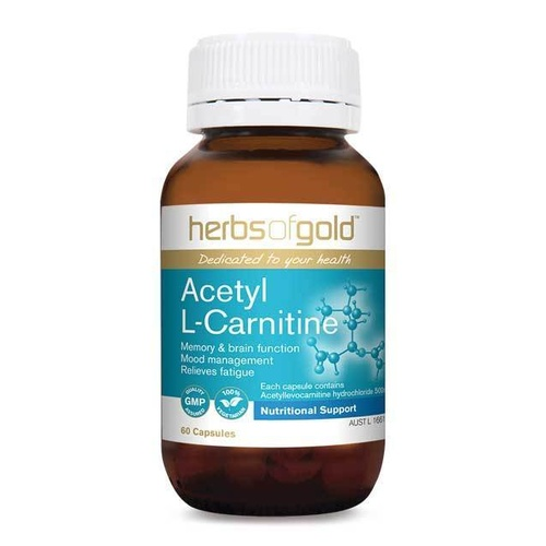 Herbs Of Gold Acetyl L Carnitine 60 vcaps