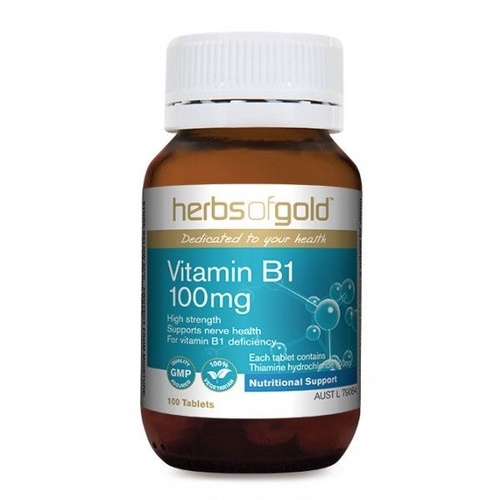 Herbs Of Gold Vitamin B1 100mg 100 tabs