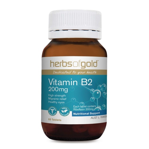 Herbs Of Gold Vitamin B2 200mg 60 tabs