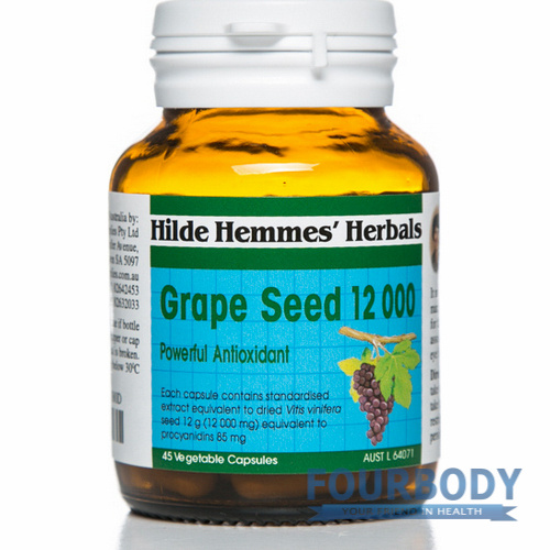 Hilde Hemmes Herbal's Grape Seed 12000mg 45 vcaps
