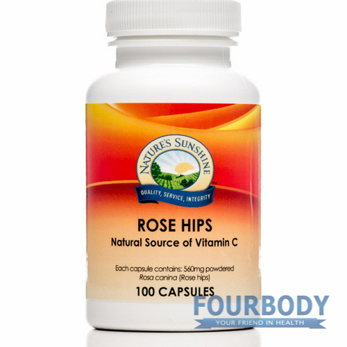 Nature's Sunshine Rose Hips 560mg 100 caps