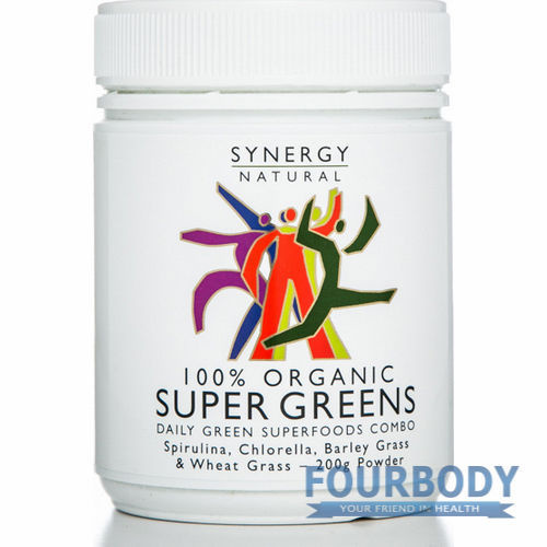 Synergy Natural Super Greens Organic 100g