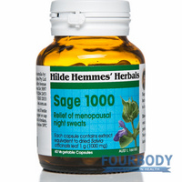 Hilde Hemmes Herbal's Sage 1000mg 60 vcaps