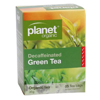 Planet Organic Green Tea Decaffeinated 25s Tea Bags